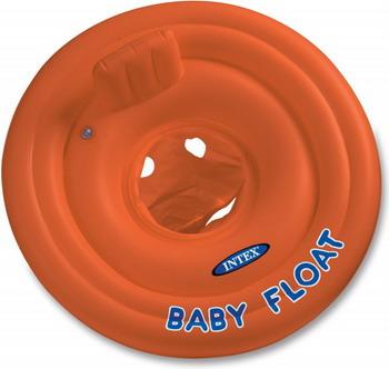Надувной круг Intex Baby Float с трусами76см 1-2лет 56588 лодка intex challenger k1 68305