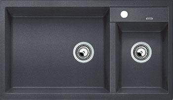 Кухонная мойка BLANCO METRA 9 SILGRANIT темная скала чаша слева  цена и фото