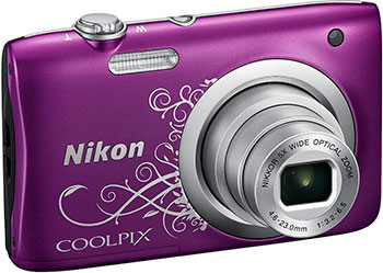 Цифровой фотоаппарат Nikon COOLPIX A 100 Purple Lineart фотоаппарат nikon coolpix a10 purple purple lineart 16mp 5x zoom sd usb 2 7