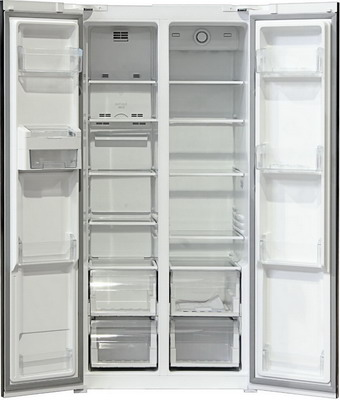 Холодильник Side by Side Ginzzu NFK-455 нерж сталь холодильник side by side samsung rs552nrua9m