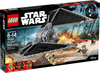 Конструктор Lego STAR WARS Ударный истребитель СИД 75154 new lepin 05048 star classic model wars 543pcs the tie striker building blocks bricks toys compatible with 75154 children gift