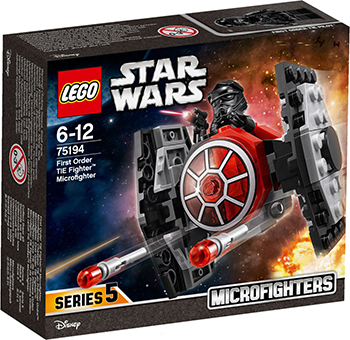Конструктор Lego Star wars Микрофайтер ''Истребитель СИД Первого Ордена'' 75194 конструктор lego star wars тяжелый разведывательный шагоход первого ордена 75177 l