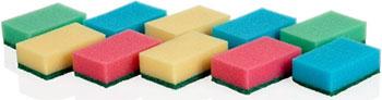 Губки кухонные Tescoma CLEAN KIT 10 шт. 900648 губки кухонные tescoma clean kit 3 шт с петелькой 900650