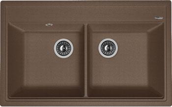Кухонная мойка Florentina Липси-820 820х510 мокко FSm искусственный камень мойка кухонная florentina липси 780к мокко fsm 20 250 d0780 303