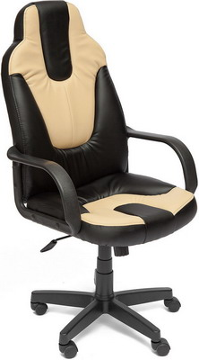 Кресло Tetchair NEO (1) (кож/зам черный бежевый PU 36-6/36-34) кресло tetchair neo 1 кож зам черный жёлтый pu 36 6 36 14