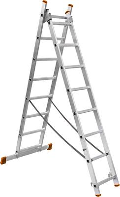 Лестница алюминиевая Вихрь двухсекционная ЛА 2х9 73/5/1/24 лестница вихрь ла