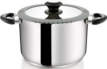 Кастрюля Tescoma SmartCOVER с крышкой D 24 см 7.0 л 727925 форма круглая d 24 см black
