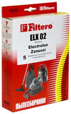 Набор пылесборников Filtero ELX 02 (5) Standard набор пылесборников filtero dae 03 5 standard