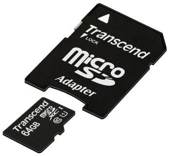 Карта памяти Transcend MicroSDHC 64 GB Class 10 UHS-1 (TS 64 GUSDU1) карта памяти transcend 16gb microsdhc class 10 uhs 1 ts16gusdcu1