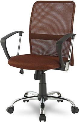 Кресло College H-8078 F-5 Коричневый ткань кресло college h 8078f 5 ткань офисное крестовина хромированный металл подлокотники пластик коричневый