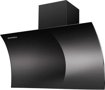Вытяжка со стеклом MAUNFELD BLAST PUSH 90 ЧЕРНОЕ стекло вытяжка со стеклом maunfeld tower g 90 чёрный черное стекло