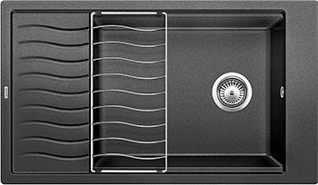 Кухонная мойка BLANCO ELON XL 8 S антрацит мойка кухонная blanco elon xl 6 s шампань с клапаном автоматом 518741