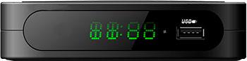 Цифровой телевизионный ресивер Telefunken TF-DVBT 213 чёрный тв приставка telefunken tf dvbt 201