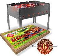 Мангал Костерок 24929 + 6 шампуров bs мангал 500 300 500 мм сборный 6 шампуров в картонной коробке 1272762