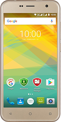Мобильный телефон Prestigio Muze B7 Dual SIM Gold prestigio muze b7 5 01280 720ips display dual sim android 6 0 1 3ghz quad core 2gb ddr 16gb flash 2 0mp front 13 0mp rear camera with flash light 2300mah battery black[psp7511duoblack]