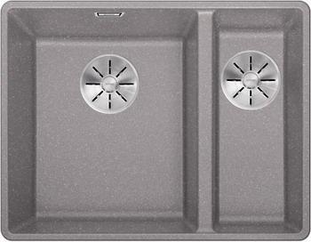 Кухонная мойка BLANCO SUBLINE 340/160-F алюметаллик с отв.арм. InFino 523570 мойка subline 400 f jasmine 519800 blanco