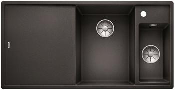 Кухонная мойка BLANCO AXIA III 6 S-F InFino Silgranit антрацит правая ( доска стекло) 523489 мойка axia ii 6 s f rock grey 518834 blanco