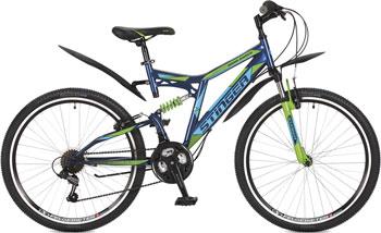 Велосипед Stinger 26'' Highlander 100 V 18'' синий 26 SFV.HILAND1.18 BL7 велосипед stinger highlander 150v 26 2016