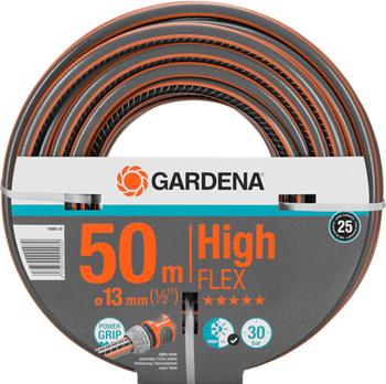 Шланг садовый Gardena HighFLEX 13 мм (1/2'')  50 м 18069-20 шланг садовый truper трехслойный с полипропиленовым коннектором 1 2 20 м