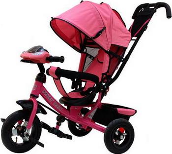 Велосипед Sweet Baby Mega Lexus Trike Pink (10/12 Air Music bar) рюкзак hama sweet owl pink blue