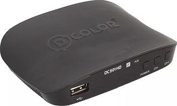Цифровой телевизионный ресивер D-Color DC 801 HD цифровой телевизионный ресивер d color dc 1301 hd