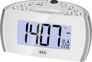 Будильник AEG MRC 4119 P weiss цена и фото