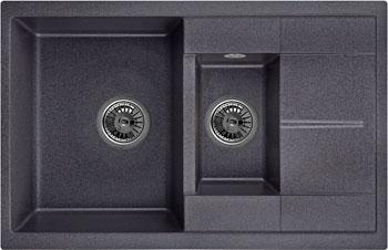 Кухонная мойка Weissgauff QUADRO 775 K Eco Granit черный  weissgauff quadro 420 eco granit графит