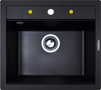 Кухонная мойка Zigmund amp Shtain PLATZ 560 чёрный базальт кухонная мойка zigmund amp shtain platz 465 швейцарский шоколад
