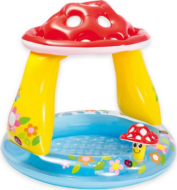 Надувной бассейн для купания Intex Мухомор 57114 NP