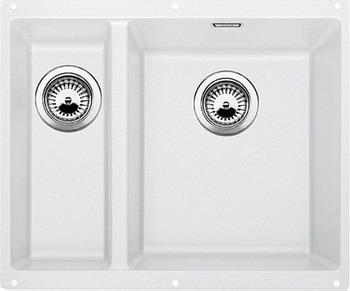 Кухонная мойка BLANCO SUBLINE 340/160-U SILGRANIT белый (чаша справа)  цена и фото