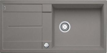 Кухонная мойка BLANCO METRA XL 6S SILGRANIT серый беж с клапаном-автоматом кухонная мойка blanco metra xl 6s silgranit темная скала с клапаном автоматом