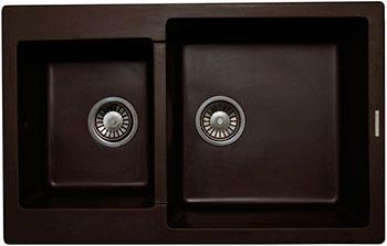 Кухонная мойка LAVA D.3 (COFFEE чёрный) кухонная мойка ukinox stm 800 600 20 6