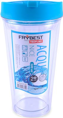 Стакан Frybest AC2-04 NICE 500 ml Голубой бутылка frybest ac3 02 fresh 500 ml розовая