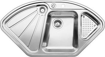 Кухонная мойка BLANCO DELTA-IF нерж.сталь с зеркальной полировкой шкаф с полками дсп и зеркальной дверью орион
