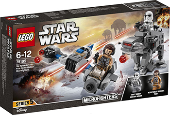 Конструктор Lego Star wars Бой пехотинцев Первого Ордена против спидера на лыжах 75195 lego star wars конструктор боевой набор специалистов первого ордена 75197