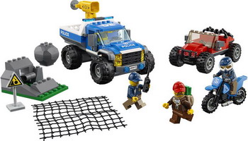 Конструктор Lego City Police: Погоня по грунтовой дороге 60172 building blocks city police station coastal guard swat truck motorcycle learning