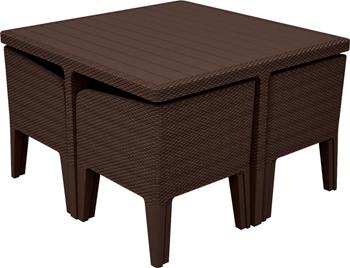 Комплект мебели Keter Columbia set 5 предм коричневый 17202279/КОР стол для гриля keter unity 93 l коричневый 17202663
