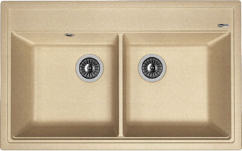 Кухонная мойка Florentina Липси-820 820х510 песочный FG искусственный камень