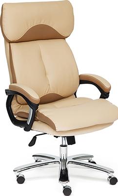 Офисное кресло Tetchair GRAND (кож/зам/ткань бежевый/бронзовый 36-34/21)