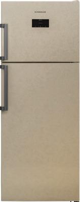 Двухкамерный холодильник Scandilux TMN 478 EZ B Beigh marble двухкамерный холодильник scandilux cnf 379 ez x inox