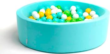 Бассейн сухой Hotnok ''Счастливое лето'' 200 шариков (мятный желтый белый зеленый) sbh 020 песочница бассейн marian plast palplay лодочка желтый 308