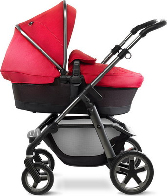 Коляска Silver Cross Pioneer 2 в 1 Chilli/Carrycot/Chassis Graphite SX 2035.00 SI/SX 5005.CH