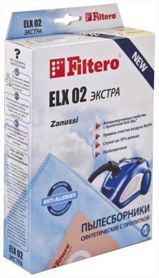 Набор пылесборников Filtero ELX 02 (4) ЭКСТРА Anti-Allergen набор пылесборников filtero row 07 4 экстра anti allergen