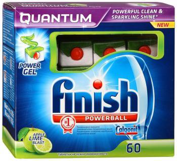 Таблетки для посудомоечных машин FINISH QUANTUM 60 шт Яблоко Лайм ринфолтил 60 таблетки