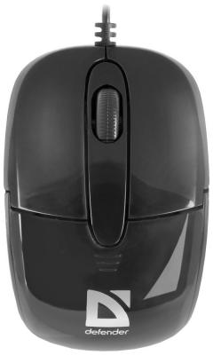 Мышь Defender Optimum MS-130 black 52130 мышь defender optimum ms 125 nano grey 52125