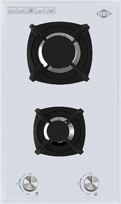 Встраиваемая газовая варочная панель MBS PG-302 White варочная поверхность mbs pg 302bl