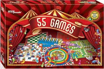 Набор настольных игр Степ 55 лучших игр мира карточки для настольных игр chess music carcassonne big box 2014