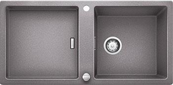 Кухонная мойка BLANCO ADON XL 6S SILGRANIT алюметаллик с клапаном-автоматом кухонная мойка blanco adon xl 6s silgranit белый с клапаном автоматом