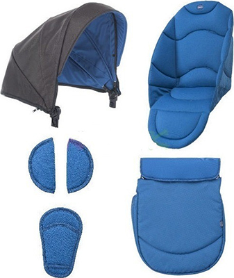 Акссессуары в коляску Chicco COLOR PACK URBAN POWER BLUE 00079168600000 chicco набор зимних акссессуаров в коляску color pack urban chicco winter night