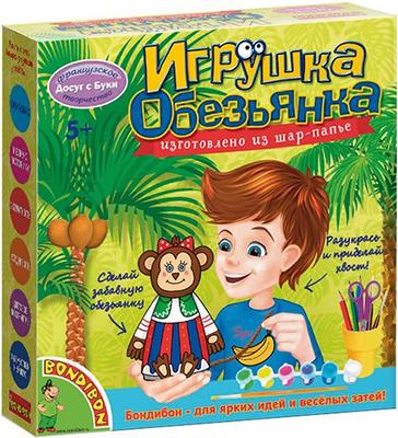Набор для декорирования Bondibon Игрушка из шар-папье обезьянка (девочка) ВВ1517 bondibon игрушка из фетра матрешка bondibon